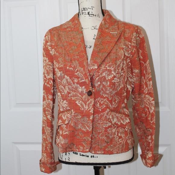 bebe Jackets & Blazers - Bebe Orange Blazer